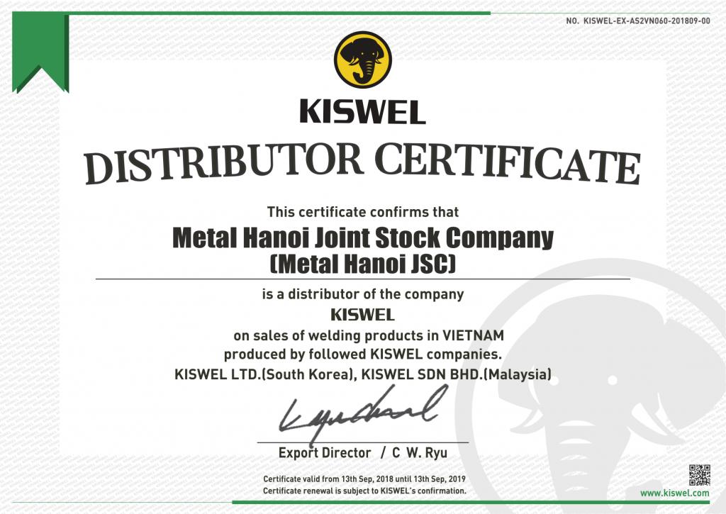 Thư Ủy Quyền Kiswel